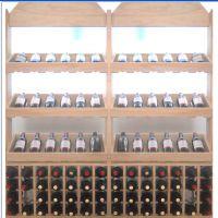 红酒酒柜专用葡萄酒展示柜 厂家特供豪华木质红酒展架