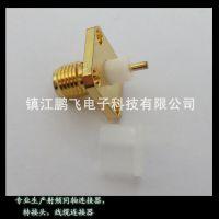 销售铜质镀金SMA-KFD射频连接器,母头四洞接线端子sma的接头