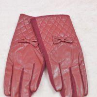 职业白领 女士冬季保暖羊绒手套皮绒羊毛单色全指韩国新款手套