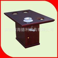 全实木电磁炉火锅桌 一人一锅火锅桌 老榆木火锅餐桌椅定做