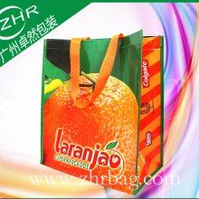 厂家生产腹膜彩印编织手提环保袋 防水购物袋 色彩艳丽 坚固实用