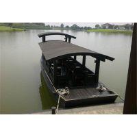 湿地公园观光木船 高低蓬船 水上观光游船