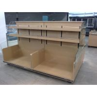 大沣货架-轻量级单面玻璃木材结合个性层架式货架(DF-286)