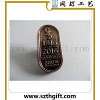 同辉高品质定做金属徽章 锌合金制作红古铜仿古徽章定制