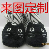 毛绒玩具厂家定制室内棉拖鞋 日式卡通布艺拖鞋 家居拖鞋订制