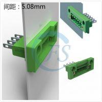间距3.81 穿墙端子 继保器连接器 电力柜端子排 5.08间距端子-锋顺电子