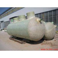 厂家直销 卧式一体化污水处理设备 玻璃钢化粪池 玻璃钢储水罐