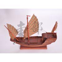 纯手工木质工艺品 木质船模 郑和战船模型