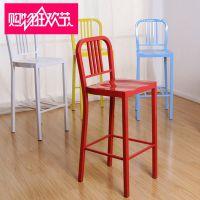 酒吧椅高脚椅子高脚凳酒吧凳欧式吧台凳时尚简约铁艺长腿椅子