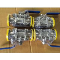 温州先宇机械 厂家批发304三段式/三片式快装球阀 全包软密封