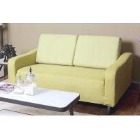 供应八达八强时尚现代简约美式布艺懒人沙发可折叠多功能单双人两用床客厅卧室多用 绿色可拆洗