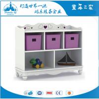 广州童年之家T-Y6015C幼儿园白色贵族5格收纳柜实木玩具柜