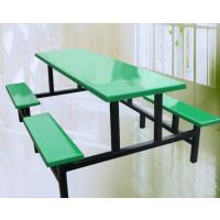 广东8人位食堂餐厅餐桌椅安装图 耐脏易清洁、好保养 餐桌多款选择康腾体育