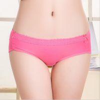 【云梦妮】淘宝热销爆款纯色少女内裤舒适透气性感蕾丝边女士内裤