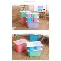 【鑫乐】厂家促销收纳箱加厚型塑料收纳箱整理箱储蓄箱收纳箱中号