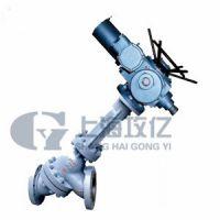 上海攻亿电动铸铁J941-16-DN25电动角式截止阀