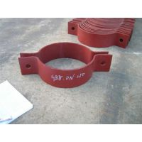 河北龙业供应DN300 A5*1钢制双螺栓管夹厂家 碳钢