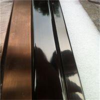 拉丝304黑钛金不锈钢方管22*22*0.6阳光房彩色管