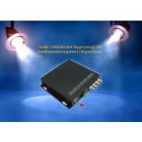 4 AHD video 1 RS485 1 ethernet to fiber converter for CCTV surveillance system
