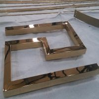 不锈钢304方管镀玫瑰金,不锈钢管表面真空镀玫瑰金,不锈钢圆管表面拉丝加镀玫瑰金
