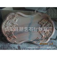 曲阳汉白玉大理石材茶盘雕刻 功夫茶具 石木工艺品摆件
