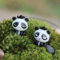 B048微世纪 迷你可爱大头熊猫摆件 苔藓多肉微景观生态瓶DIY配件