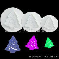 烘培DIY模具塑料饼干模 弹簧压模 翻糖工具 3PC圣诞树模具