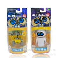 迪士尼正版瓦力机器人模型玩具总动员WALL·E伊娃EVE盒装手办6CM