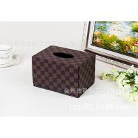 创意家居用品纸巾盒 复古欧式皮革纸巾盒抽纸盒厂家定制