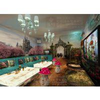 个性3D大型壁画 爱丽丝梦幻墙纸壁画 量贩式KTV包房墙画壁纸定制