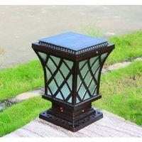 鑫辰灯饰 压铸铝太阳能柱头 LED不锈钢 LED柱头灯 不锈钢柱头灯 压铸铝