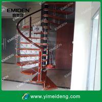 供应室内阁楼钢木踏板旋转楼梯YMD-0813