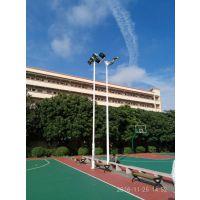 广州罗岗定制篮球场灯杆 6米7米8米篮球场投光灯杆 篮球场led灯具安装康腾体育