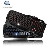 标王天魔X6背光游戏键盘 l台式电脑笔记本有线发蓝光电竞键盘