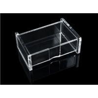 亚克力全透明名片盒 展会名片盒 商务 前台 办公 名片盒