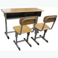 厂家直销 钢制热销学生课桌椅 钢木课桌椅双人课桌椅
