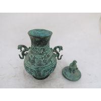 卧猴双凤壶 生肖猴平安吉祥摆件青铜器仿古工艺品古董古玩收藏