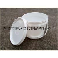 深圳东莞3L-1白色粘合剂桶塑料桶/塑料小桶样品桶油墨桶