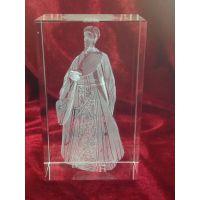 传奇人物模型水晶内雕纪念品定制 地方特色代表雕像水晶纪念品定制