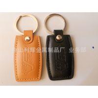 供应PU皮钥匙扣,简单类皮料钥匙扣,黑色皮扣,棕色皮扣