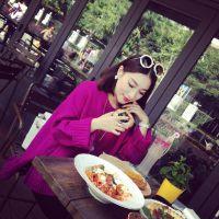 小银子2014秋冬新款韩版落肩袖显瘦加厚宽松套头毛衣外套女M10102