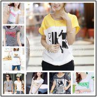 韩国东大门t恤 夏季赶集地摊货源女T字母短袖体恤 时尚打底衫混批