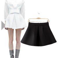 秋季新款欧美流行风空气层小打褶半身蓬蓬裙俏皮小短裙迷你半裙女
