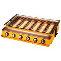 伊东ET-K333喷涂大六头商用烧烤炉无烟烧烤炉 液化气环保烧烤炉