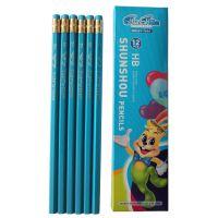 HB铅笔 环保木塑铅笔 带橡皮头铅笔 小学生奖品 文具批发