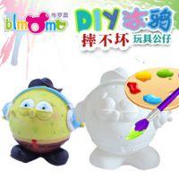 diy白模彩绘存钱罐 石膏彩绘娃娃批发 升级版陶瓷玩具 ZC-E062