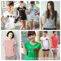 夏款新品上市女装短袖T恤 低价批发女装韩版地摊衣服货源 服装