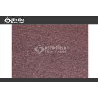 304麻布纹发黑红古铜不锈钢板酒店背景墙装饰应用