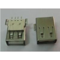 AF USB连接器供应全贴式带1.0-1.2定位柱LCP材料米黄色胶芯无卷边alt