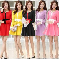 2015春装新款女装韩版纯色长袖打底裙修身女式大码连衣裙鸿源达服饰